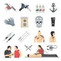 attoo Studio Flat Icons Coleção vetor