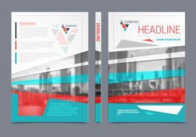 Folheto do relatório anual Flyer Design vetor