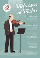 Cartaz publicitário de música
