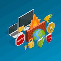 Conceito de segurança na Internet vetor