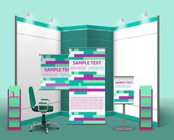 Modelo de Design de Stand de Exposição vetor