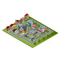 Ilustração isométrica da paisagem urbana vetor