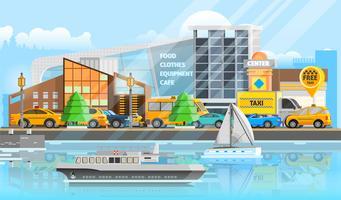 Modelo de veículos de táxi vetor