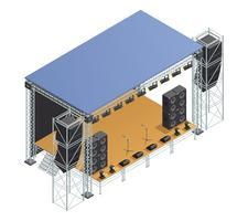 Cartaz isométrico de palco