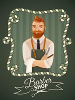 Modelo de Cartaz - barbearia vetor