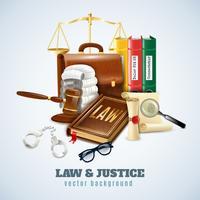 Cartaz do fundo da composição da lei e da ordem vetor