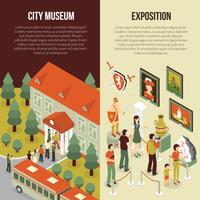 Museu de Belas Artes 2 Banners Isométricos