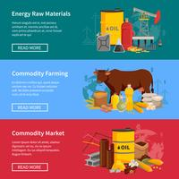 Banners Horizontais Planas de Commodity