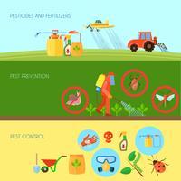 Conjunto de Banners de pesticidas vetor