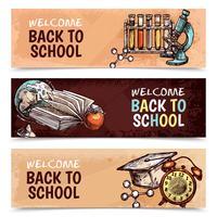 De volta aos banners da escola vetor