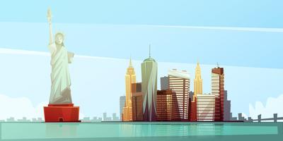 conceito de design de Nova Iorque skyline