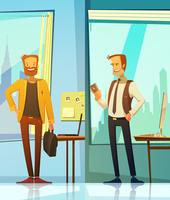 Banners verticais com empresários sorridentes vetor
