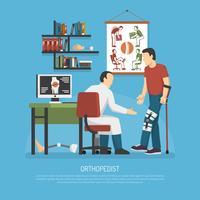 Conceito de design de ortopedia vetor