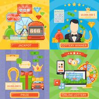 Loteria e Jackpot 2x2 Design Concept