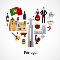Ilustração plana de Portugal vetor