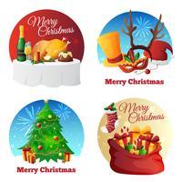Coleção de festa de natal vetor