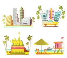 Conceito de Design Miami 2x2 vetor