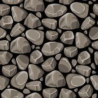 Pedra pedra sem costura padrão vetor