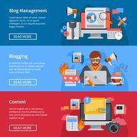 Banners planos de blogs