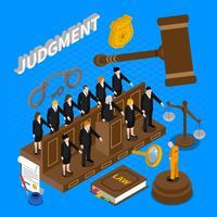 Ilustração de pessoas de julgamento vetor