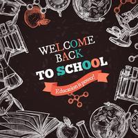 De volta ao cartaz da educação escolar vetor