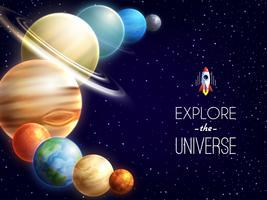 Fundo Realista do Sistema Solar