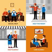 Voluntários Pessoas 2x2 Design Concept