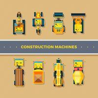 Máquinas de construção Top View vetor