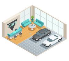 Salão Interior Design Isométrico