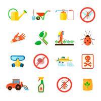 Conjunto de ícones de pesticidas