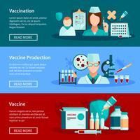 Banners planos de vacinação vetor
