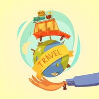 Viagens e conceito de turismo vetor