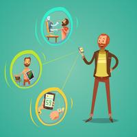 Ilustração de medicina móvel