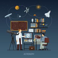 Conceito de design de astronomia vetor