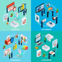 Eleições e voto isométrica 2 x 2 Design Concept