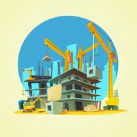 Ilustração dos desenhos animados de construção vetor