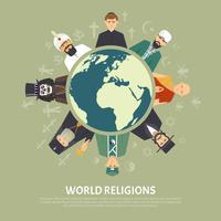 Ilustração de confissão de religião