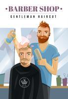 Ilustração de barbearia hipster