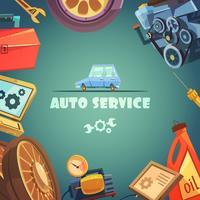 Ilustração de fundo de serviço de auto