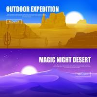 Banners horizontais do deserto