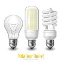 Conjunto de lâmpada LED vetor