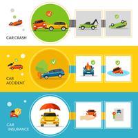 Banners de seguro de carro vetor
