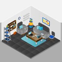 Design de interiores de sala vetor