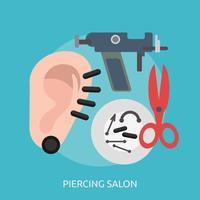 projeto de ilustração conceitual de salão de piercing