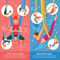 Conjunto de Banner Aero Yoga vetor