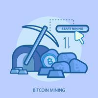 Ilustração conceptual da mineração de Bitcoin