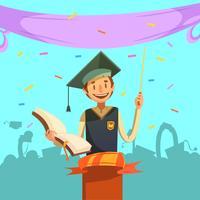 Desenhos animados retrô de educação