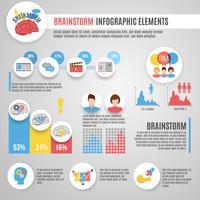 Conjunto de infográficos de brainstorm vetor