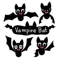 desenho de coleção de vetor de morcego-vampiro