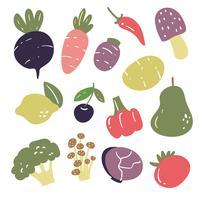 projeto de coleção de vetores de legumes
